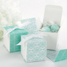20x TIFFANY PARTY,WEDDING, BABY SHOWER FAVOR BOXES WITH REVERSIBLE DESIGN