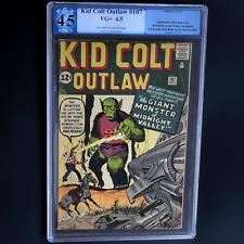 KID COLT OUTLAW #107 💥 4.5 OW-W PGX 💥 SCARCE JACK KIRBY SCI-FI COVER!