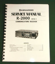 Kenwood R-2000 Service Manual - Premium Card Stock Covers & 28lb Paper!