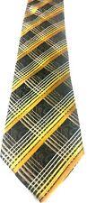 Alfani Yellow/ Black / White Plaid Men's luxury,  100% Silk Neck Tie. GREAT GIFT