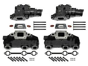 Mercruiser 4.3 V6 Dry Joint Exhaust Manifold riser package 864612T01 864309T02