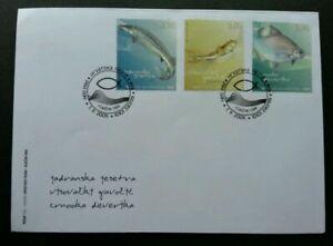[SJ] Croatia Freshwater Fish 2009 River Fauna (stamp FDC)