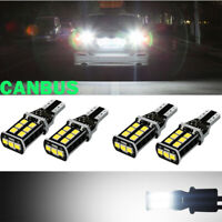 4Pcs T15 912 921 W16W Super Bright White Canbus LED For Car Backup Reverse Light