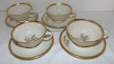 (Set of 4) Lenox Westfield (Wheat) CUPS and SAUCERS (USA Made)