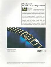 ▬► PUBLICITE ADVERTISING AD Montre Watch RADO Diaqueen' 1996