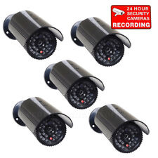 5x Dummy Security Camera Fake Infrared Leds Flashing Light Home Surveillance bfh