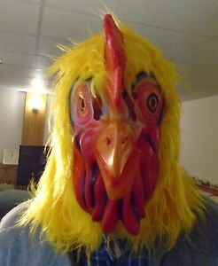 Rooster Chicken head latex mask for Halloween or party costume