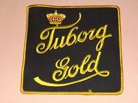 VINTAGE BAR TUBORG GOLD BEER LARGE CLOTH PATCH