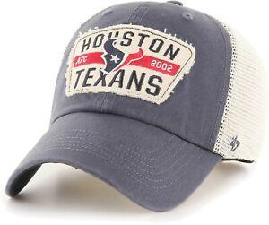 Houston Texans Hat '47 NFL Football Blue Red White Mesh Snapback Trucker Cap