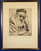 """Joseph Margulies signed & numbered """"contemplation"""" original etching"""