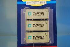 "Athearn 27832 3 x 20' standard conteneur ""Maersk sealand"" * ORIGINAL/HERPA *"
