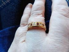 Cabochon Eternity Natural Yellow Gold Fine Rings
