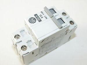 Allen Bradley 1492-CB2 H150 2P 15A 480V Ser B Circuit Breaker Used