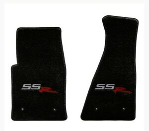 NEW! FRONT FLOOR MATS 2003-2006 CHEVY SSR EMBROIDERED LOGO Black, Red, Tan Pair