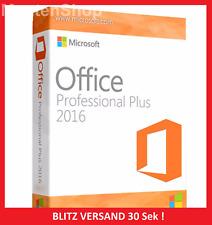 Microsoft Office 2016 Professional Plus✔ VOLLVERSION ✔NEU✔PRO✔ 1A Ware SOFORT✔