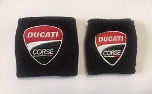 Motorcycle Brake Clutch Fluid Reservoir Tank Sock Sleeve Covers For DUCATI Corse