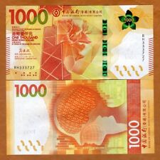 Hong Kong, $1000, 2018, BOC, P-New, UNC > Redesigned, New family of notes
