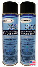 Qty 2 Polymat 656 Silicone Spray Non Greasy Lubricant For Yard Tools Snow Blower