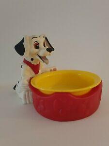 🐶 VINTAGE APPLAUSE DISNEY 101 DALMATIANS PUPPY CHARACTER  DOG BOWL - 2 PIECE