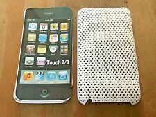 PERFORATED WHITE PROTECTIVE BACK CASE COVER FOR APPLE iPOD TOUCH 2nd / 3rd GEN.