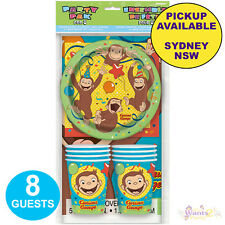 CURIOUS GEORGE PARTY SUPPLIES 8 GUESTS BIRTHDAY PACK PLATES NAPKINS TABLE COVER