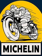 Michelin Motorbike Retro Metal Wall Plaque Art Vintage Advertising Sign man cave
