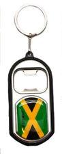 JAMAICA COUNTRY FLAG LED LIGHT & BOTTLE OPENER  METAL KEYCHAIN
