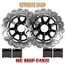 Pads SV650S 99-02 GSF650 Bandit 00-04 GSX600F GSX750F Katana 600 750 98-02 TARAZON Black Set Disc Brake Discs