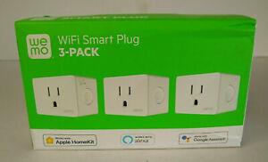 WEMO WSP080-BD3 WiFi SMART PLUG 3-PK -(EB4)
