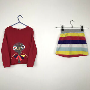 Girls BILLIEBLUSH 5-6 Years Casual Multicoloured Outfit Set Top Skirt