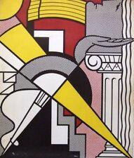 """ROY LICHTENSTEIN mounted original silkscreen print, 14 x 11"""", 1967 Pop Art"""