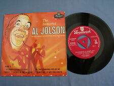 "The Immortal Al Jolson, Part 1. 7"" vinyl EP (7v1124)"