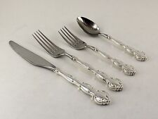 Wallace Scarborough Sterling Silver 4 Piece Place Setting - No Monogram