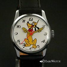 Pluto - ungetragene Kinderarmbanduhr Handaufzug - Walt Disney - ca. 1990