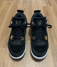 Air Jordan 4 Retro Royalty IV en daim noir/MET/Or Taille UK 4.5