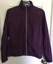 Mountain Khaki Nylon Jacket Purple Womens Medium