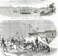 BATHUM BATUMI GEORGIA MAR NERO BLACK SEA - Incisione Originale 1800