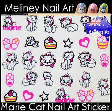 Marie Cat Kitty Nail Art Stickers decoration Craft Supplies Disney cartoon