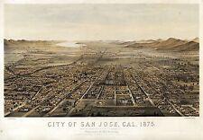 ca39 Antique old map CALIFORNIA genealogy family history SAN JOSE 1875