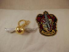 Wizarding World of Harry Potter Gryffindor Crest Patch & Golden Snitch Keychain