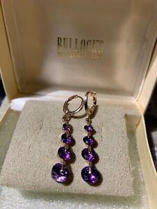 Estate Amethyst 10kt. Rose Gold Drop Earrings
