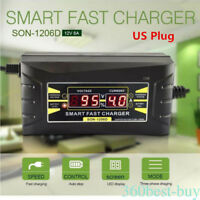 12V 6A Smart Fast Battery Charger Good Quality Car Motorcycle Power Charger Hot