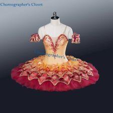 Professional Red Yellow Ballet Tutu Dew Drop Flower Gamzatti Firebird Custom Fit