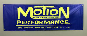 Baldwin Motion Performance Super Car Club Garage Shop Banner