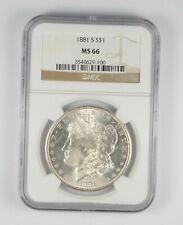 MS66 GRADED - 1881-S Morgan Silver Dollar- NGC *639