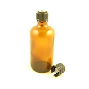 30ml / 50ml / 100ml Amber Glass Bottles Dropper Cap Standard / Tamper Evident
