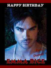 Personalised Vampire Diary Damon Ian Somerhalder Birthday Greeting Card  49