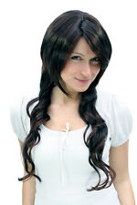 Femme,PERRUQUE,ONDULÉS,brun foncé,marron mixte,brun perruque,long,60 cm,