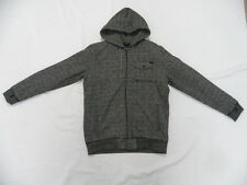 O'Neill Truckee Black Hoodie Jacket Sweater Front Zip Shirt Sz Medium