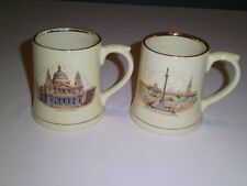 Wade England London Souvenir Mugs Tankards 2 Vtg St. Paul's /Trafalgar Square